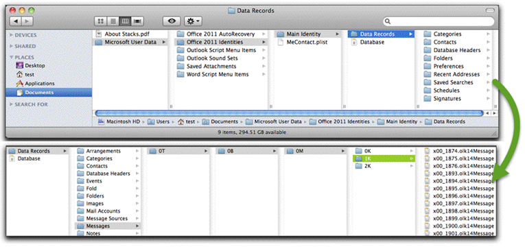 outlook mac forensics
