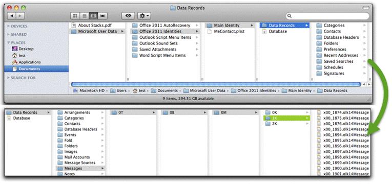 outlook mac forensics
