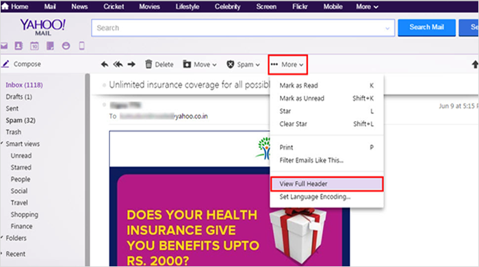 Yahoo Mail Forensics
