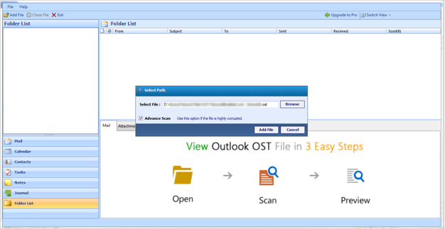 open outlook ost file 2013
