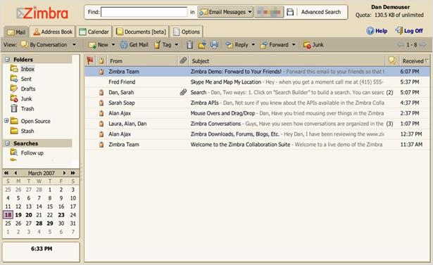 Open Zimbra ZDB File