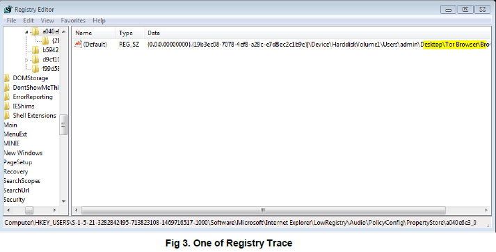 tor forensic artifacts