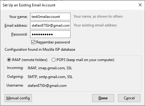 configure email account