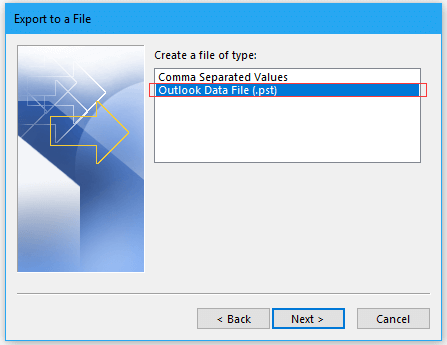 Outlook data file (pst)
