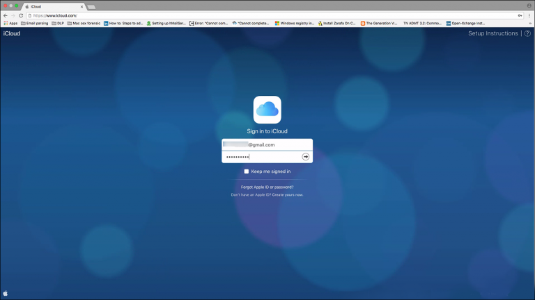 login iCloud  account