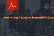 copy and paste text from secured pdf