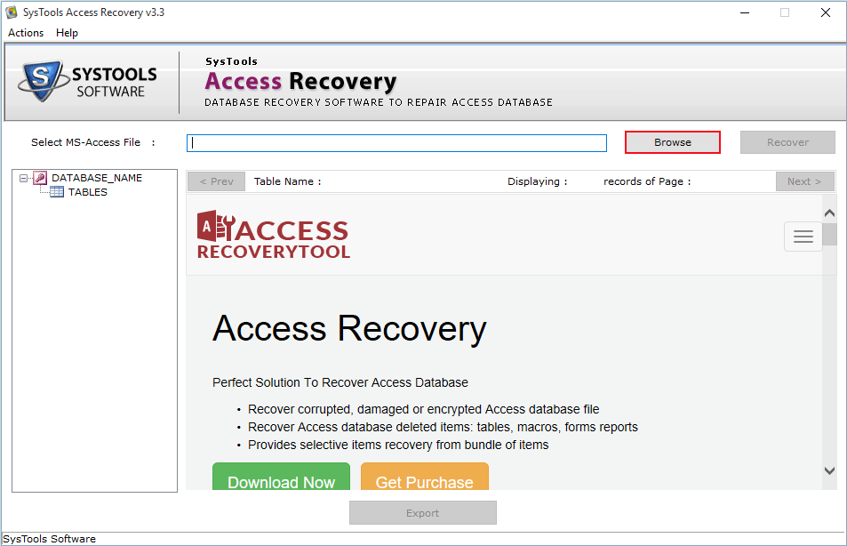 download access database recovery tool