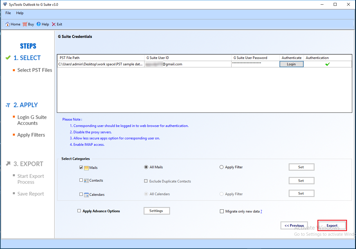 Export Yahoo PST file to Gmail