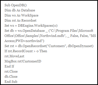 download sample access mdb file