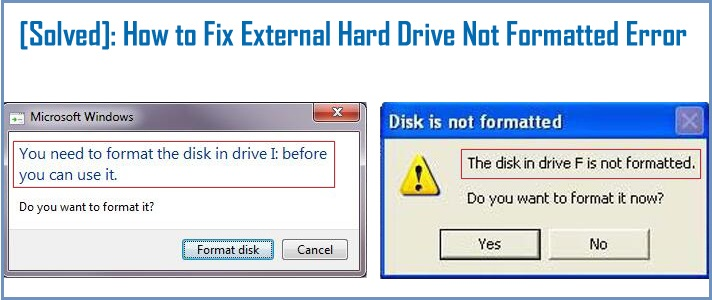 Hard Drive Says It Needs to be Formatted