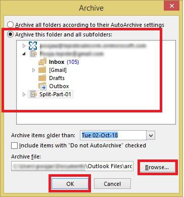 Reduce PST File Size
