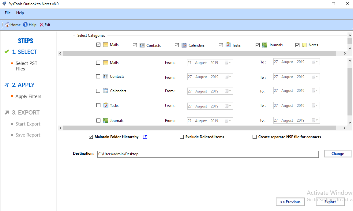 export email from Outlook to Lotus Notes