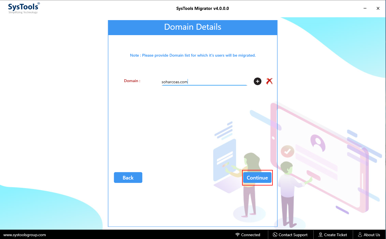 enter list of domains