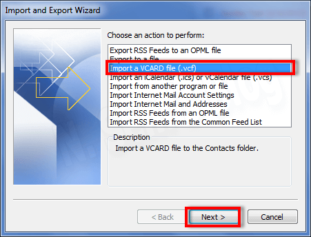import excel to outlook contacts