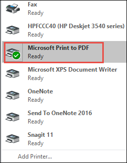 save outlook email as pdf