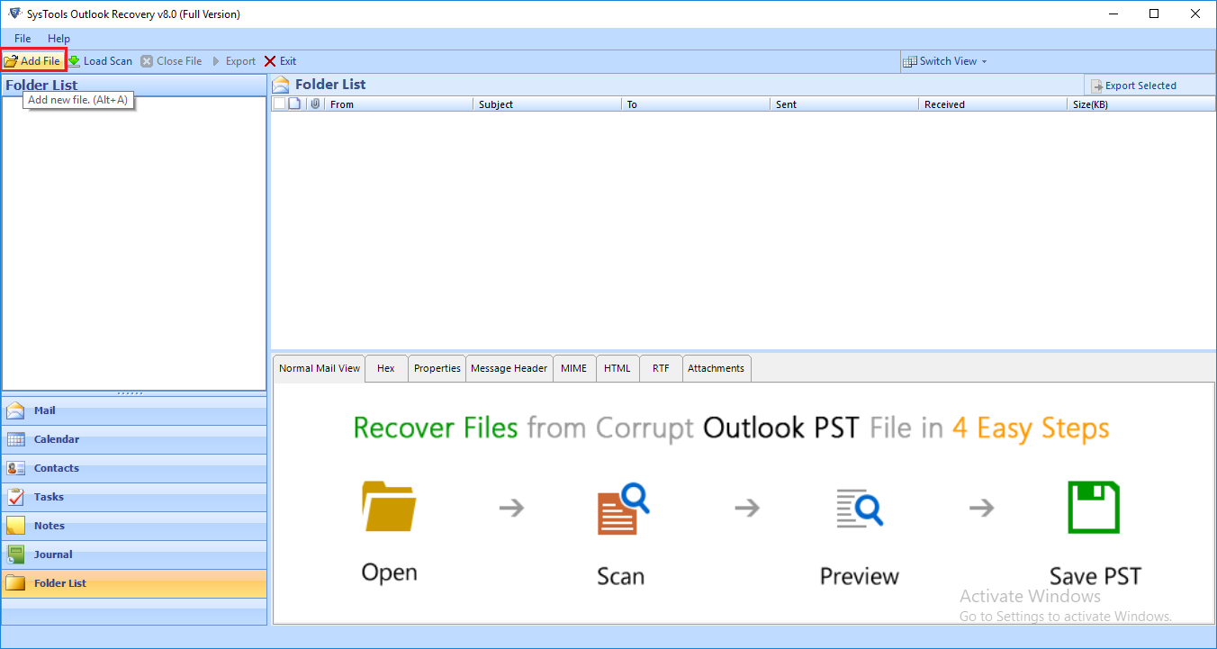 recover emails from corrupt pst file