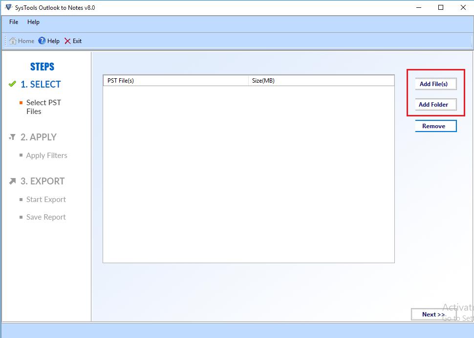 bulk import pst files to lotus notes