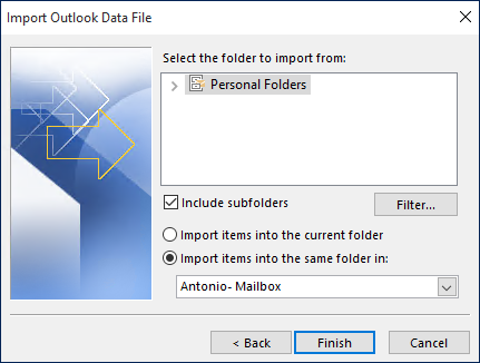 Import Lotus Notes to Outlook Process Done