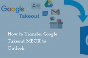transfer google takeout to outlook