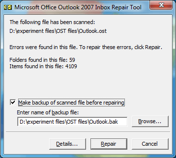 Scanpst.ext Tool to Repair OST File in Outlook 2010, 2013, 2016, 2019