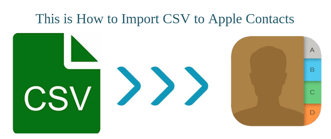 import CSV into Apple contacts
