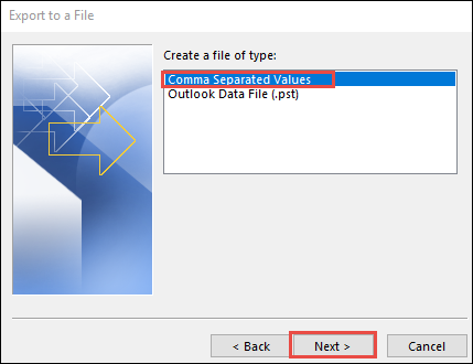 how to import email contacts from Outlook to Mailchimp