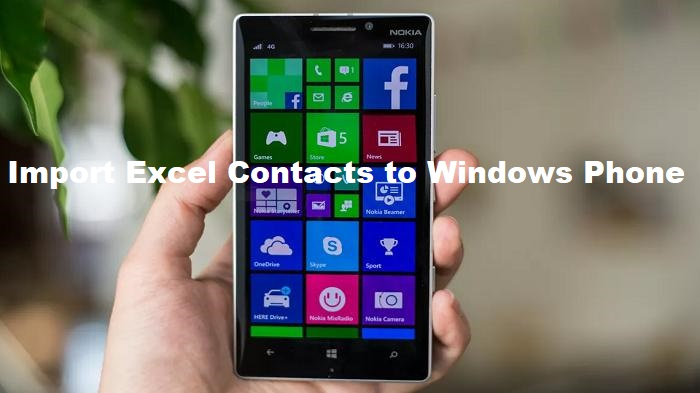 Import Contacts from Excel to Windows Phone