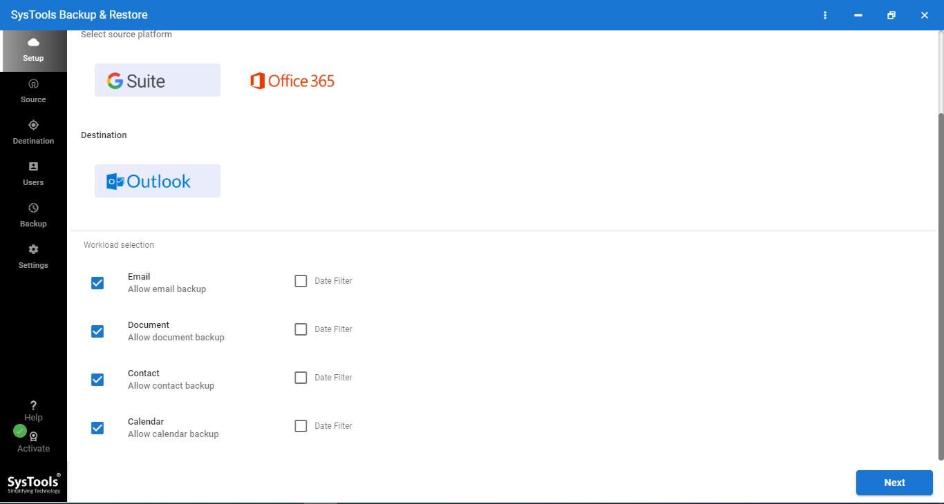 google workspace backup tool