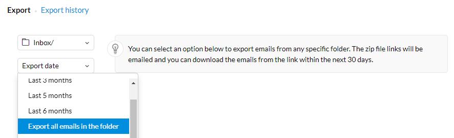 zoho to windows live mail