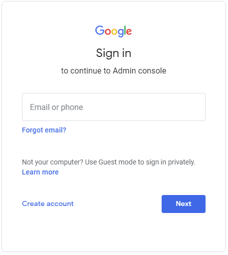g suite admin sign in
