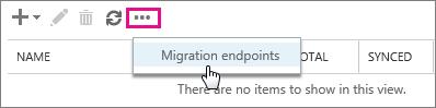 Select Migration endpoints
