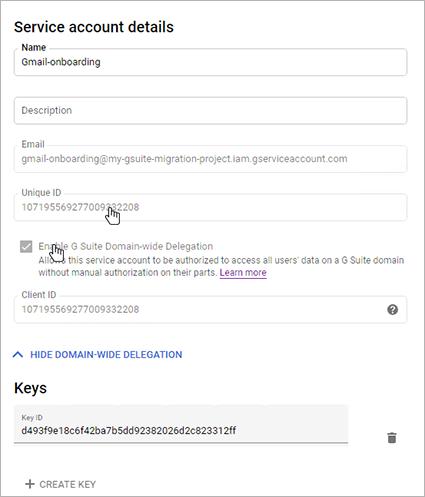 Enable Google Workspace Domain-wide Delegation box
