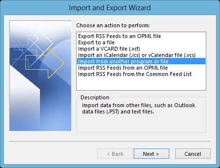 import-from-another-program-Outlook