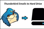 save thunderbird emails to hard drive