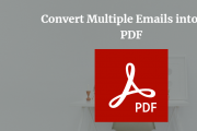 how to convert multiple emails into one pdf
