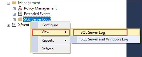 view-sql-server-log