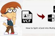 split vCard into multiple